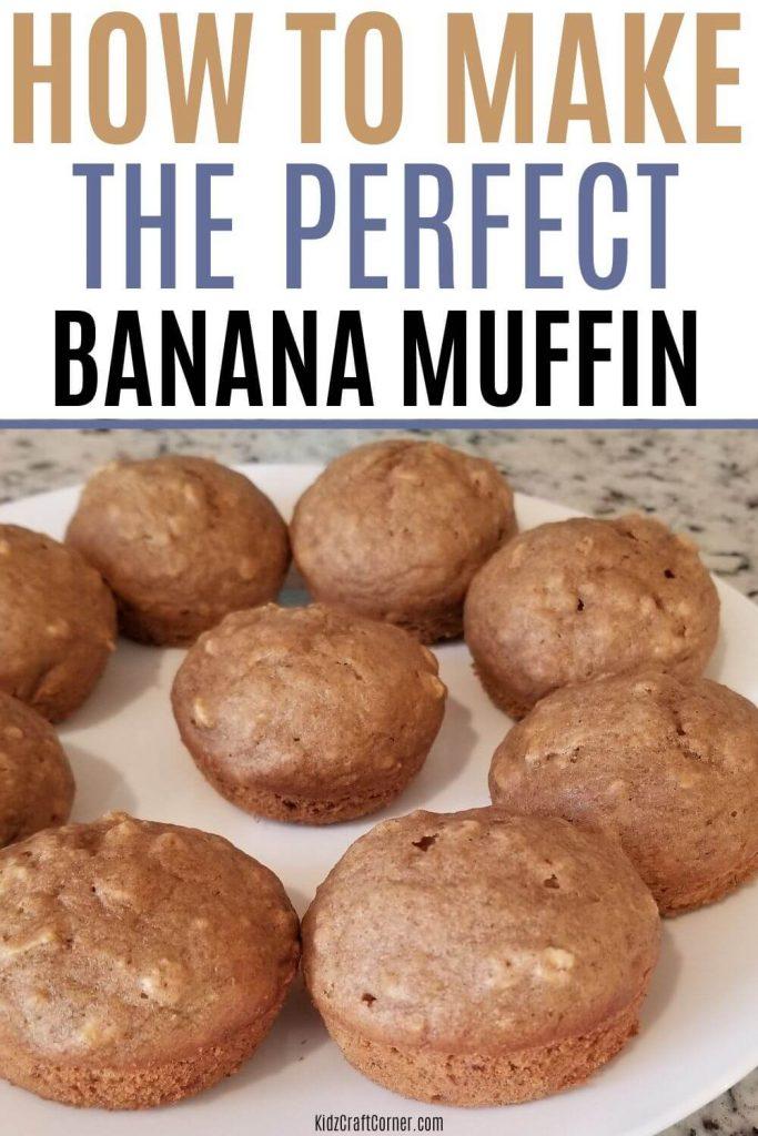 healthy blueberry banana muffin