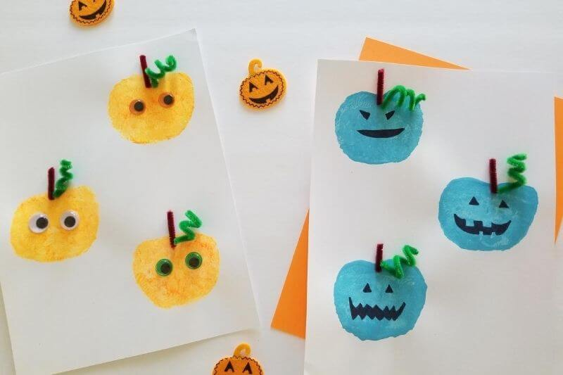 apple pumpkin stamping
