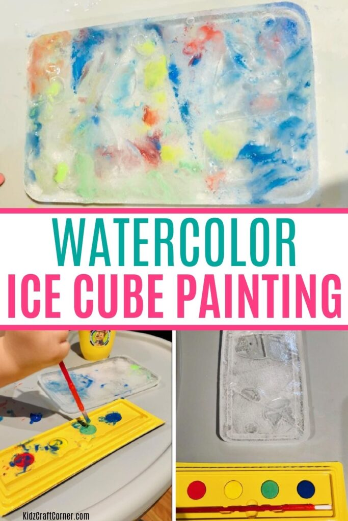 watercolor ice cube