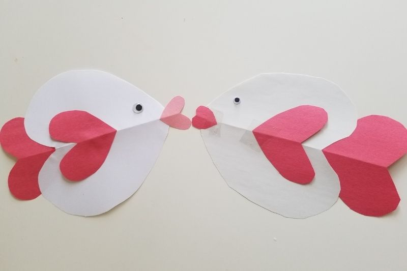heart shaped crafts for kids