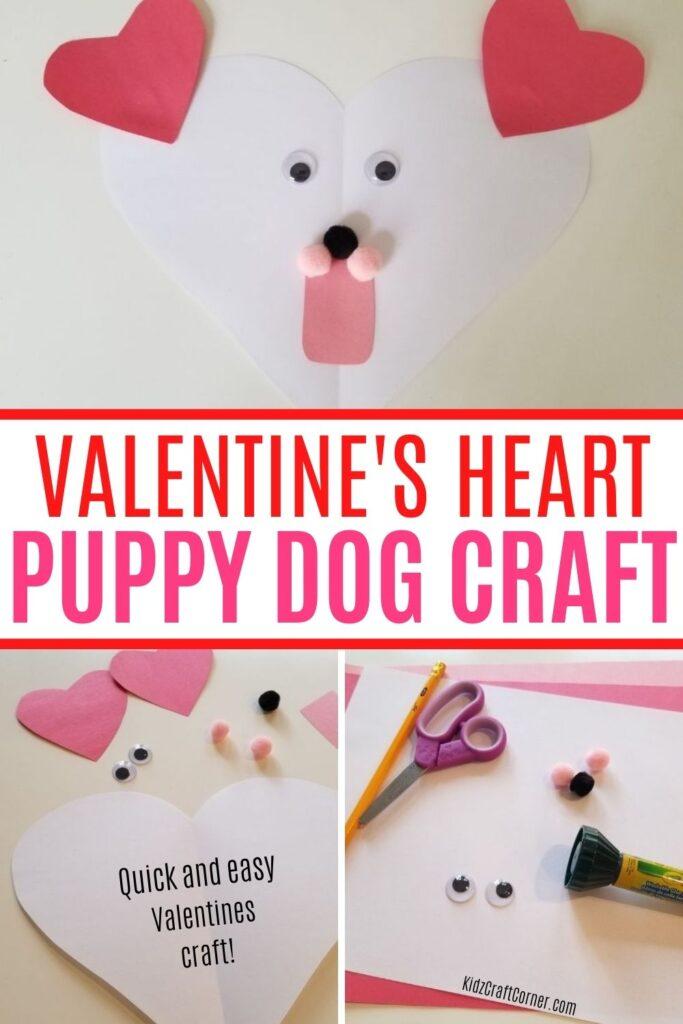 valentines puppy heart