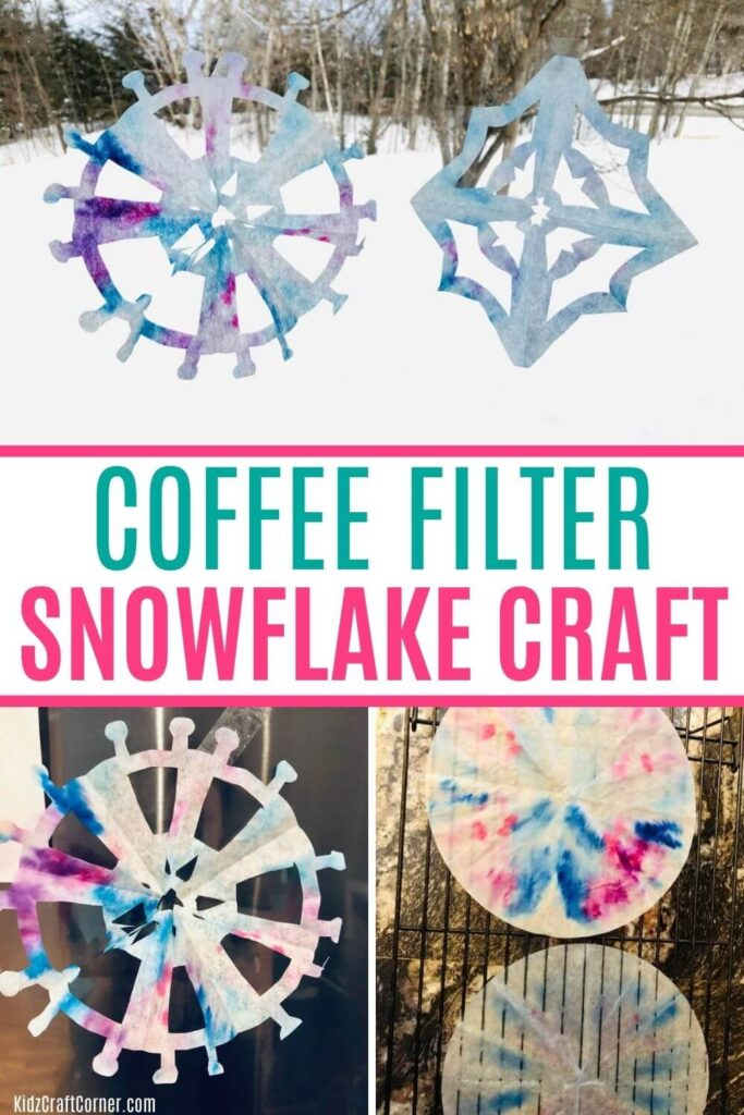 how to make snowflakes from coffee filters