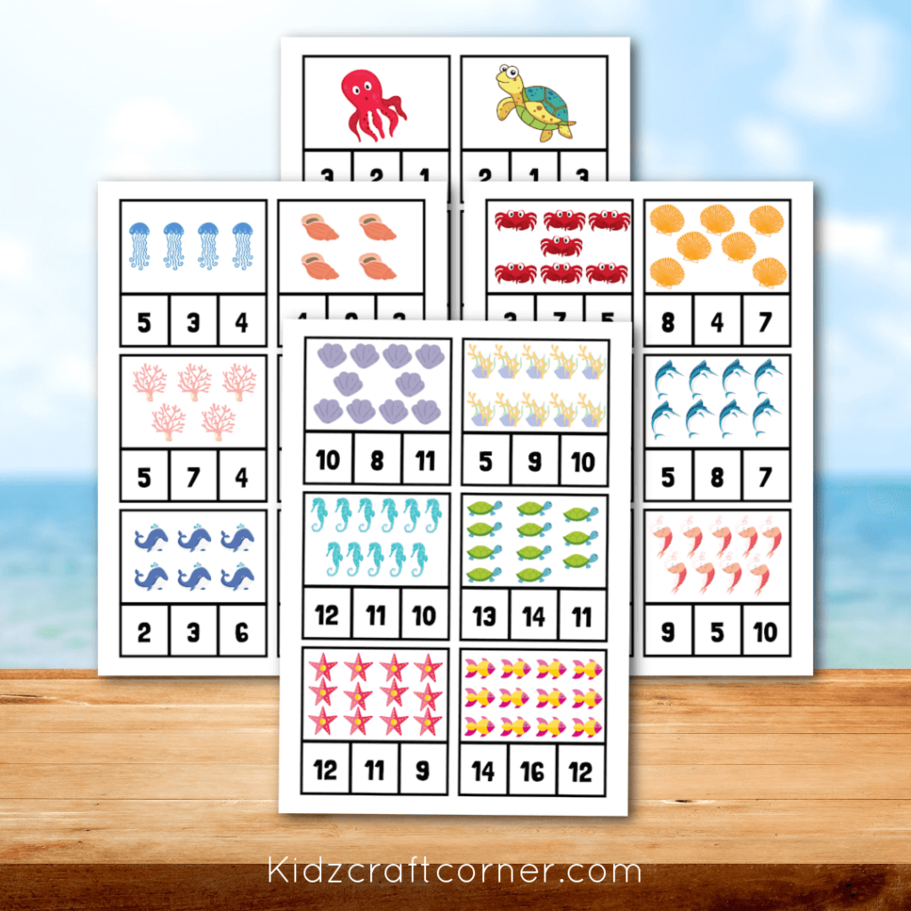 count and number recognition printable