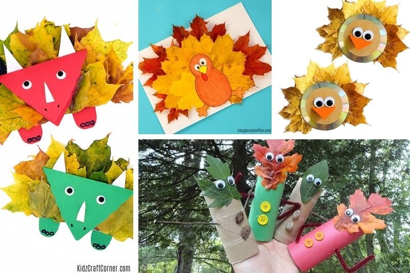 craft ideas with leaves