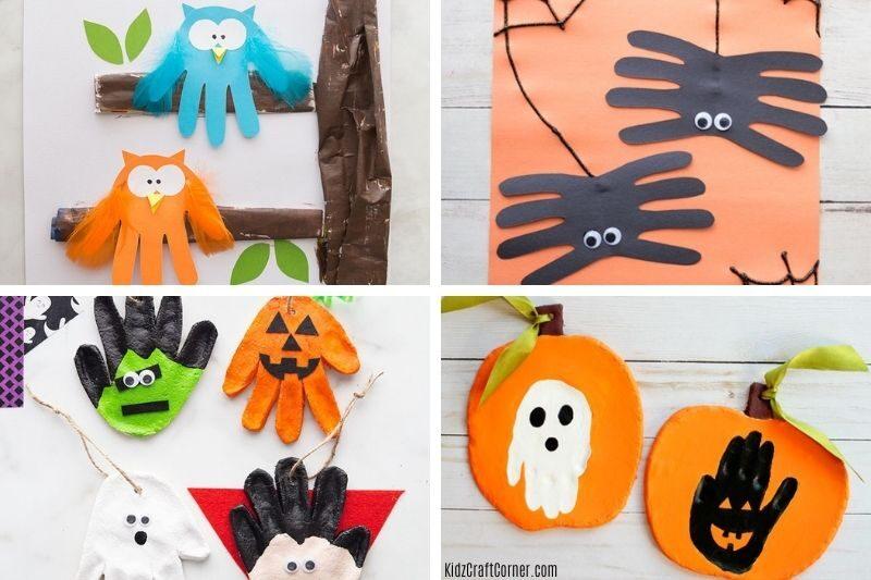 autumn handprint crafts