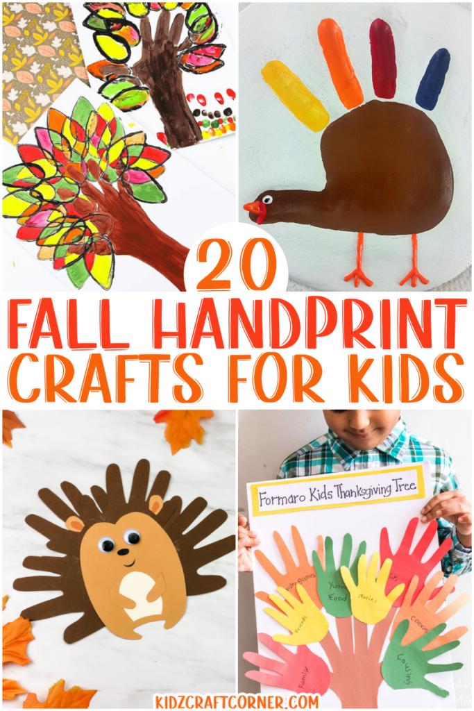 fall handprint crafts