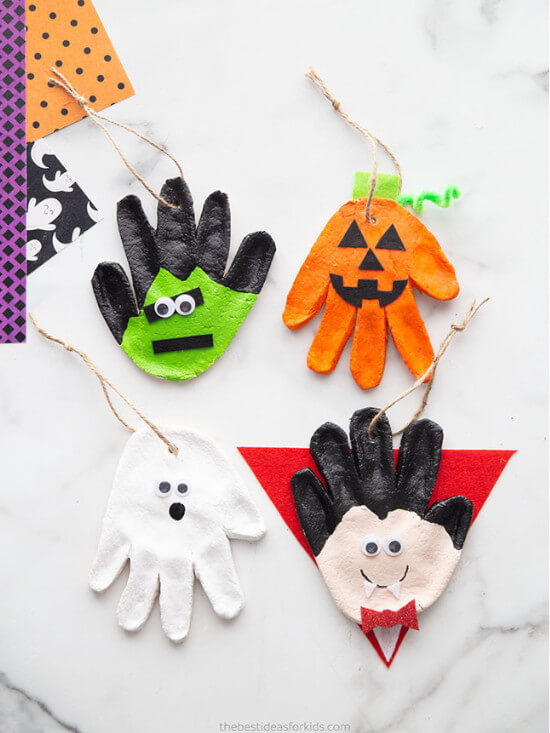 salt dough craft for Halloween