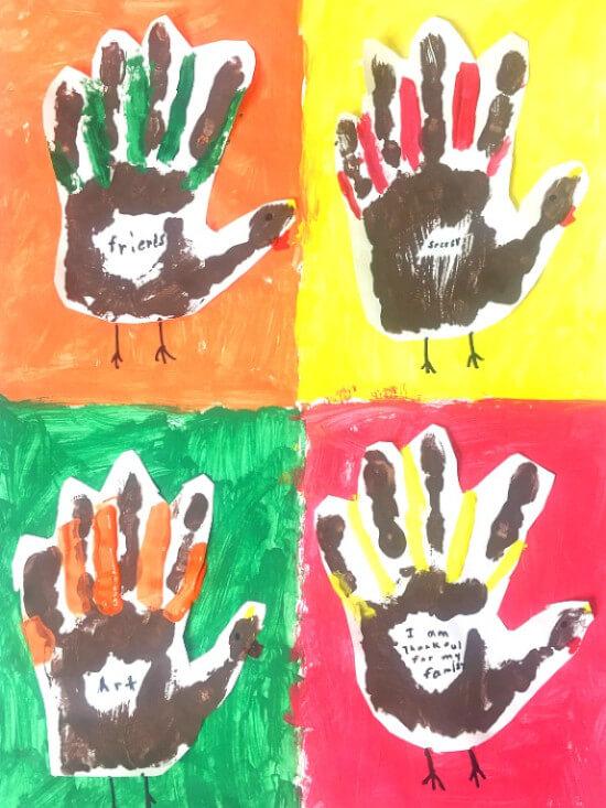 kandinski art project handprints idea for kids