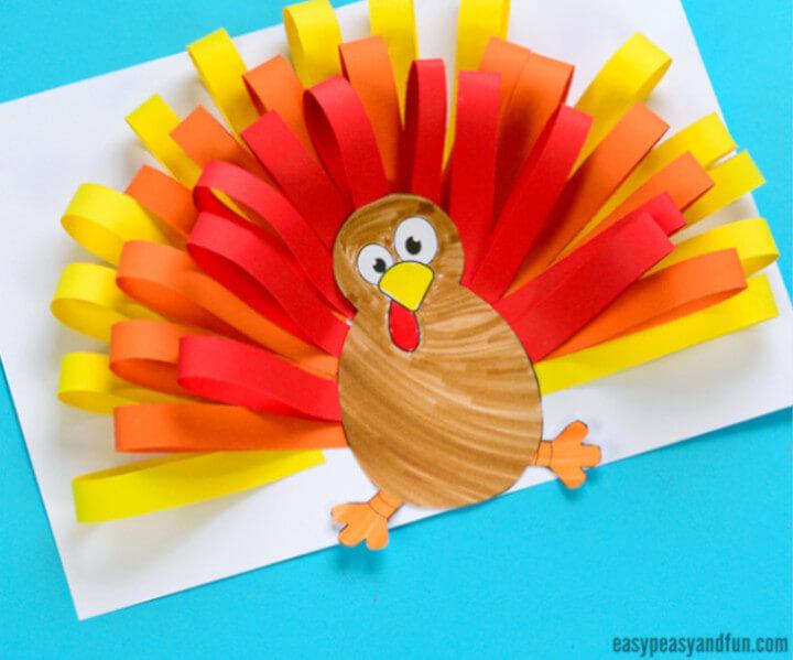 paper craft featuring a turkey