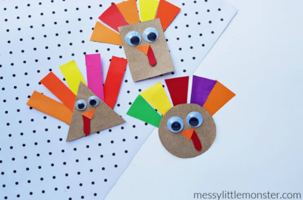 Thanksgiving easy and fun kid's turkey craft
