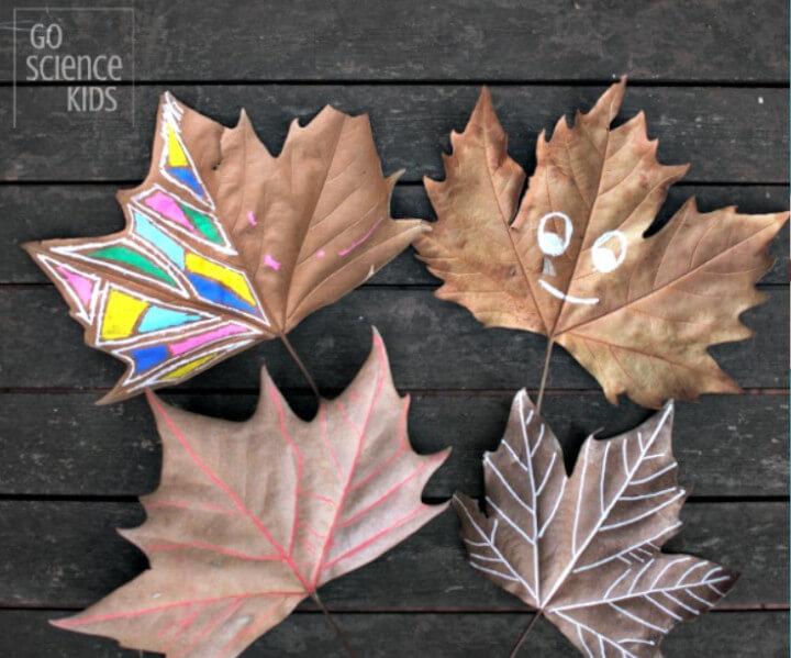 leaf themed craft panting idea for kids